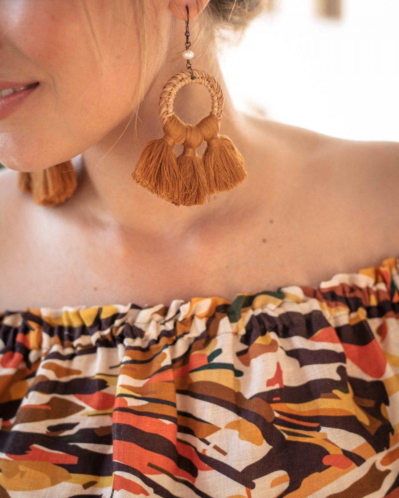 Earrings that match top