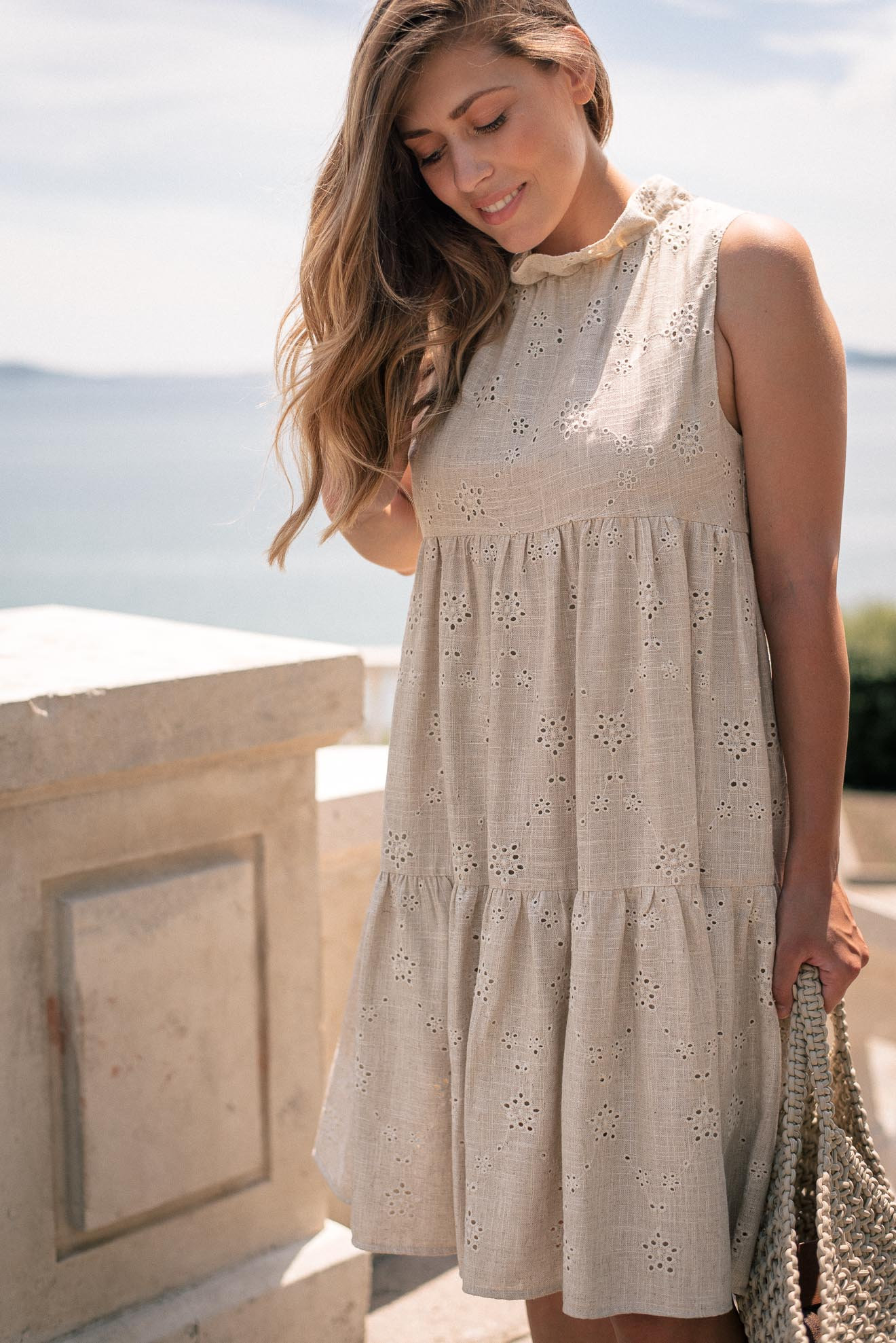 wearing Denina Martin dress