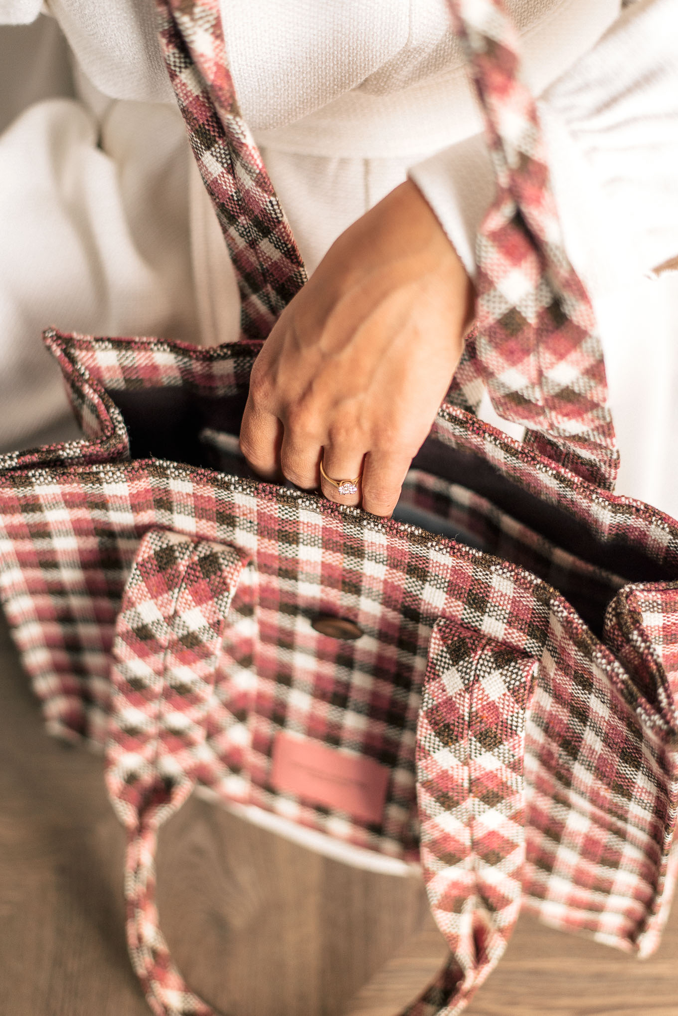 details of Handbag crafted by Denina Martin Collection
