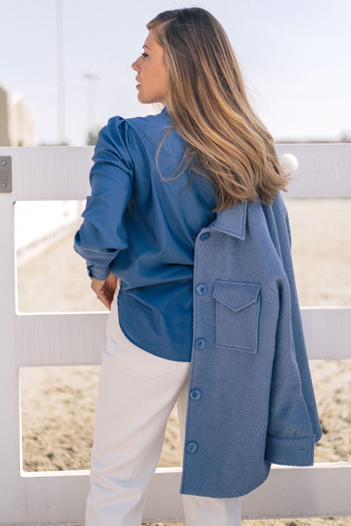 silk blend blouse by Denina Martin Collection