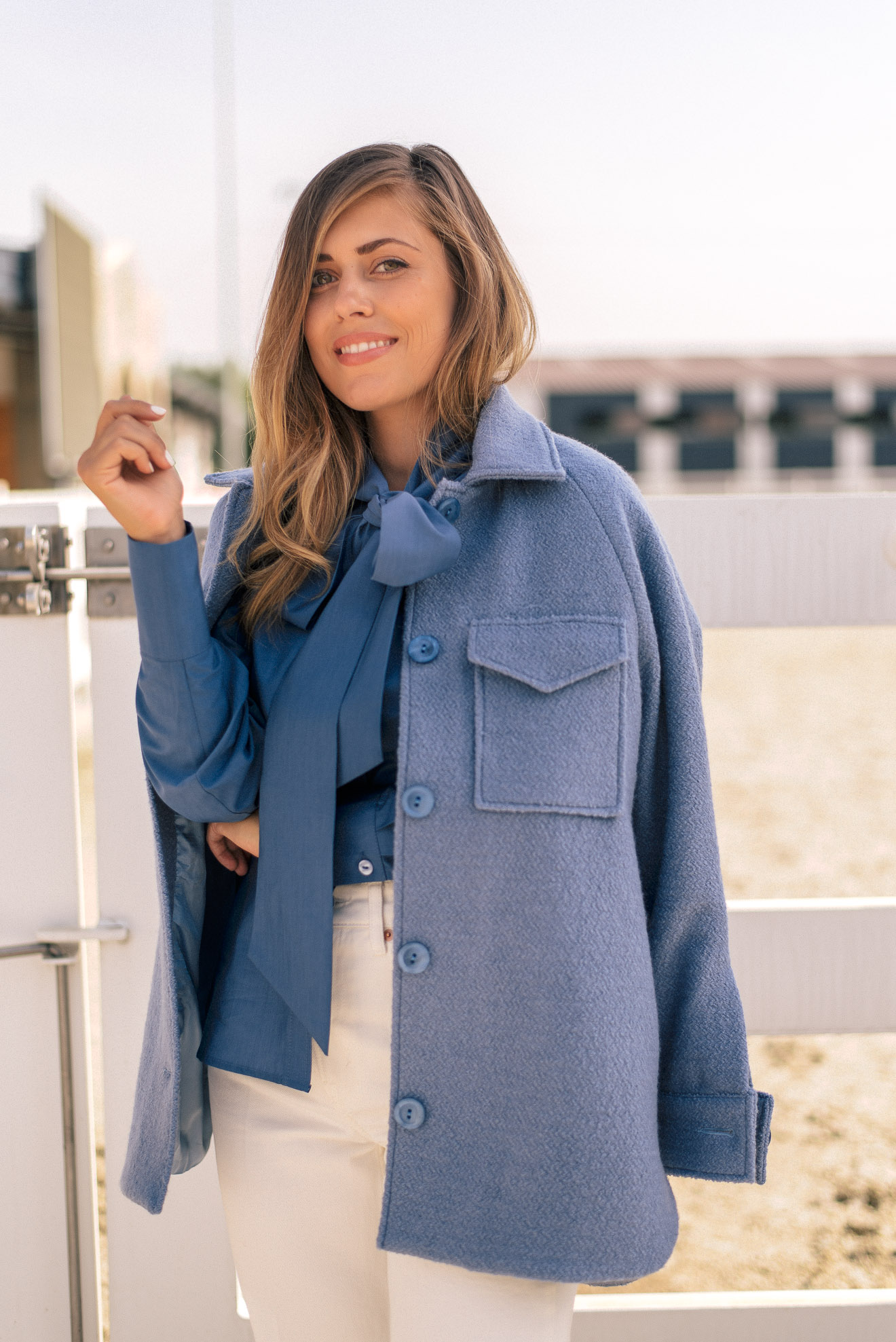 All new Denina Martin Collection royal blue coat