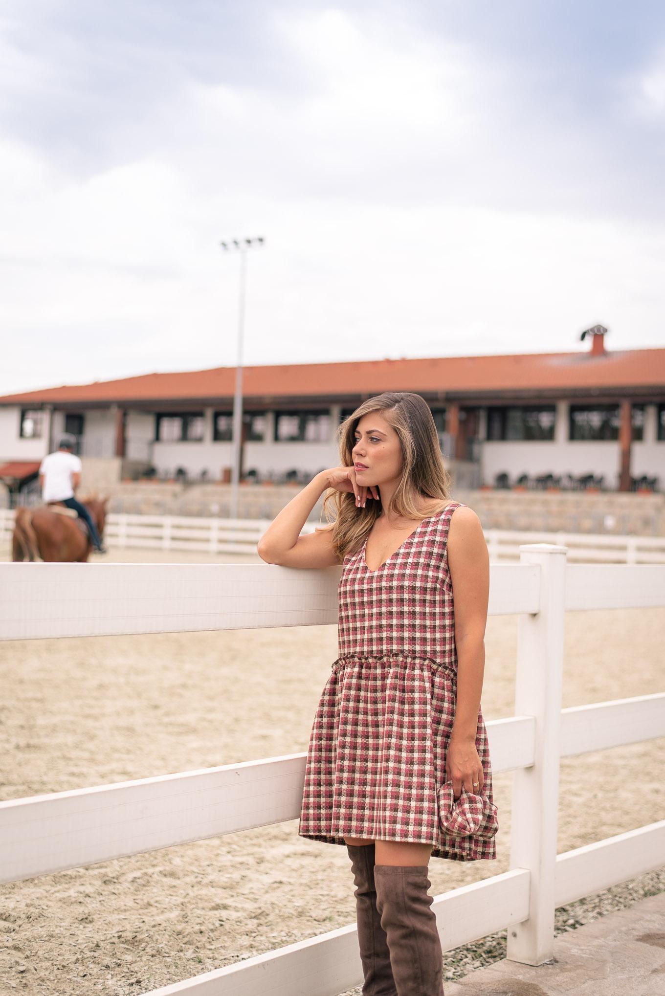 Denina Martin new in pinafore dress