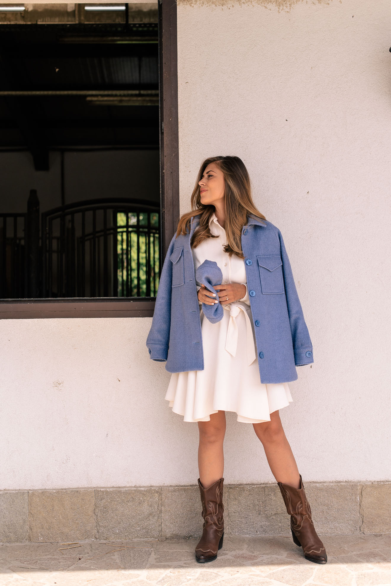 The new Denina Martin collection Elia blue coat