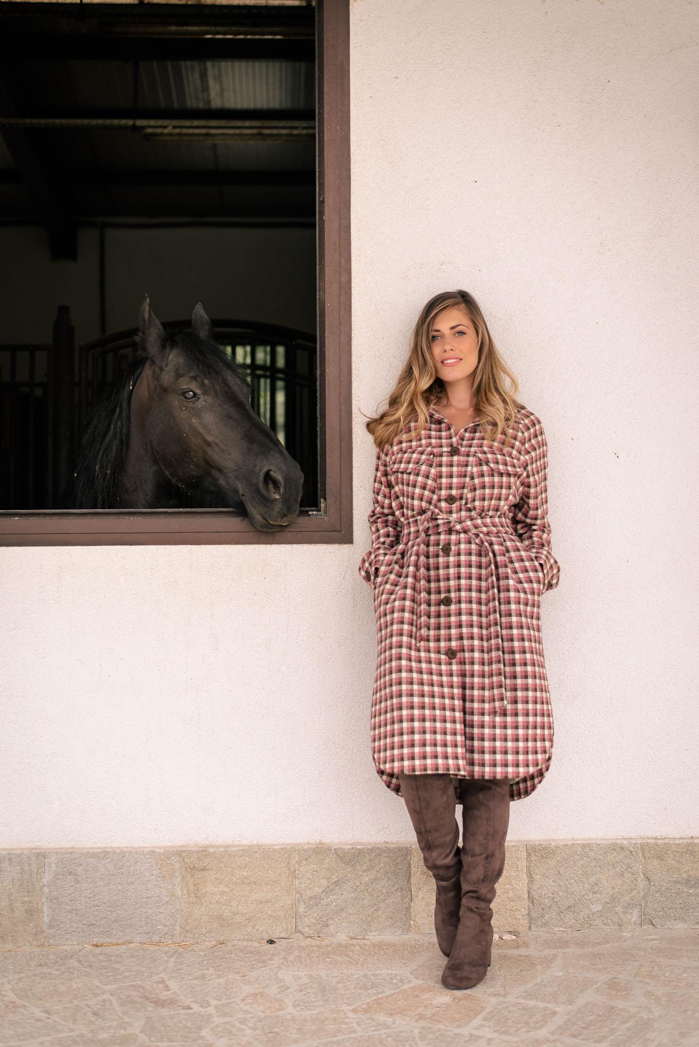Long overshirt coat by Denina Martin Collection