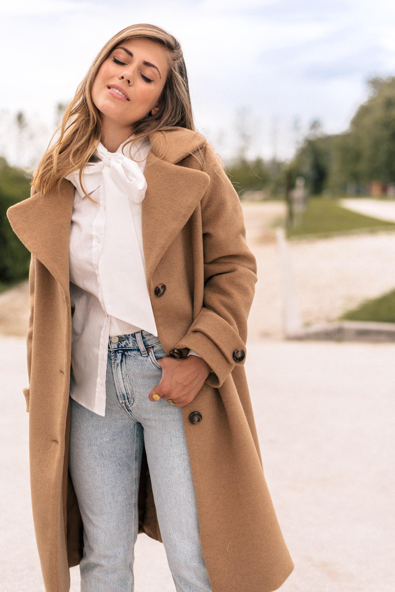 wearing wool cashmere coat