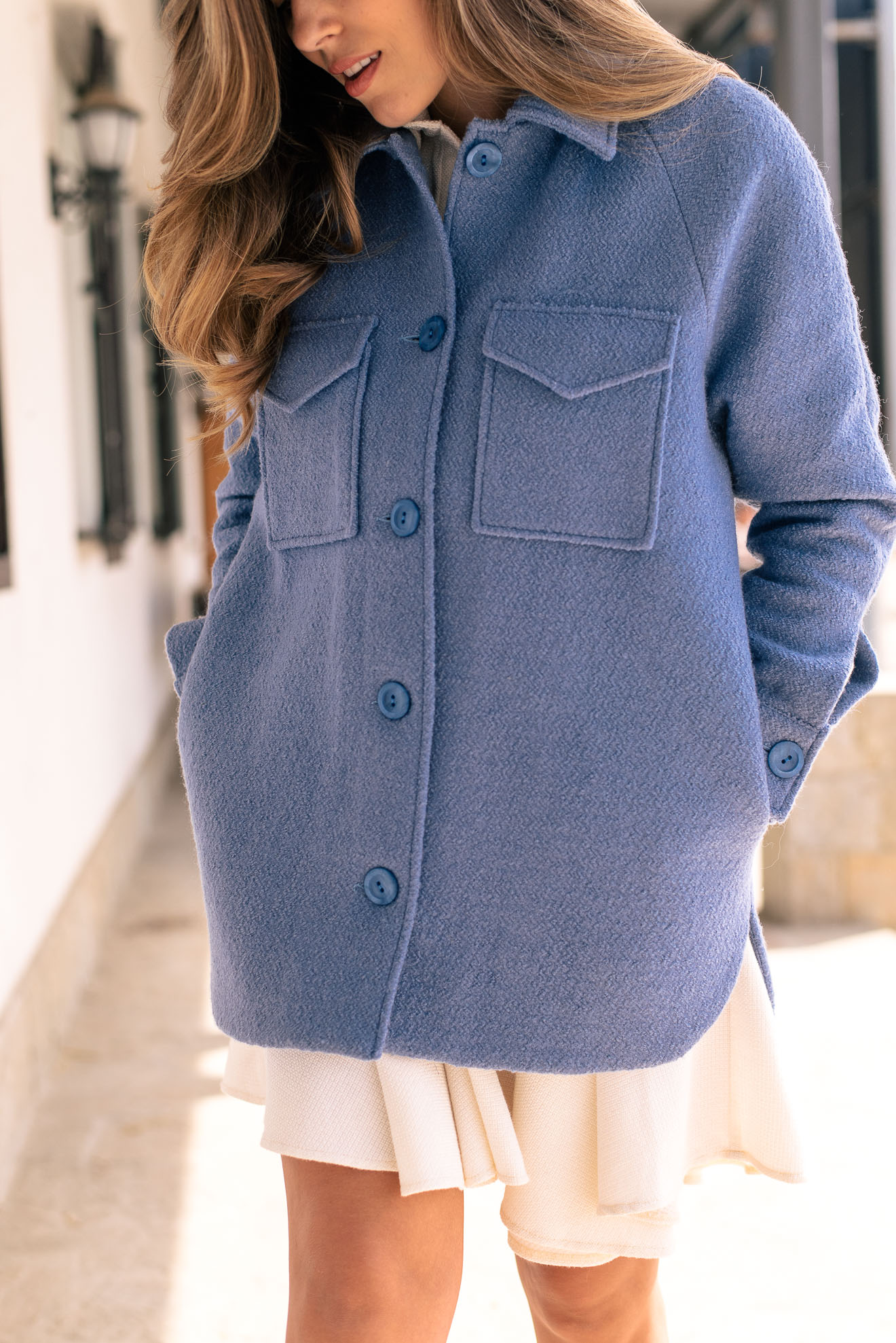 Virgin wool blue coat