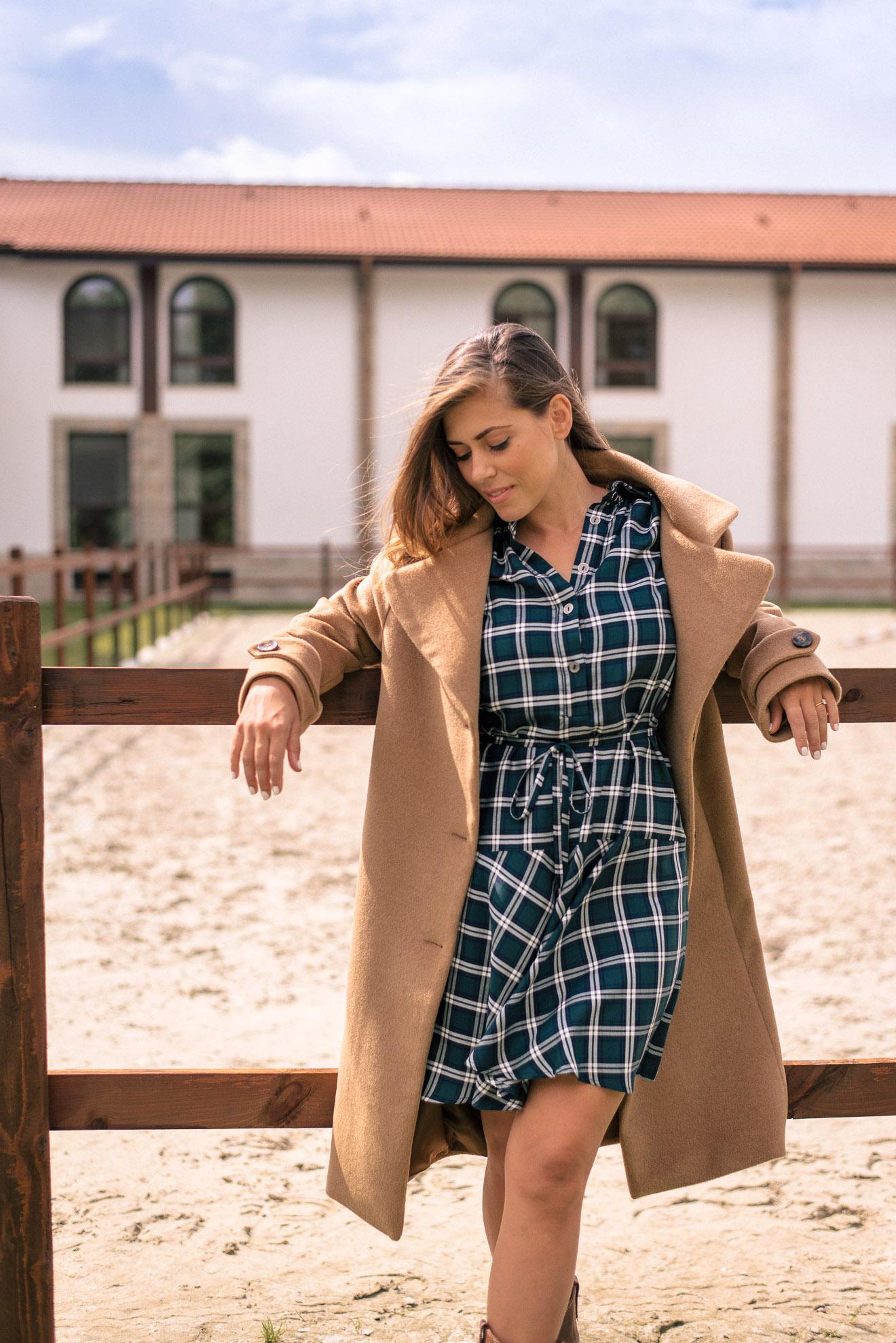 Wearing Denina Martin Collection fall shirt dress
